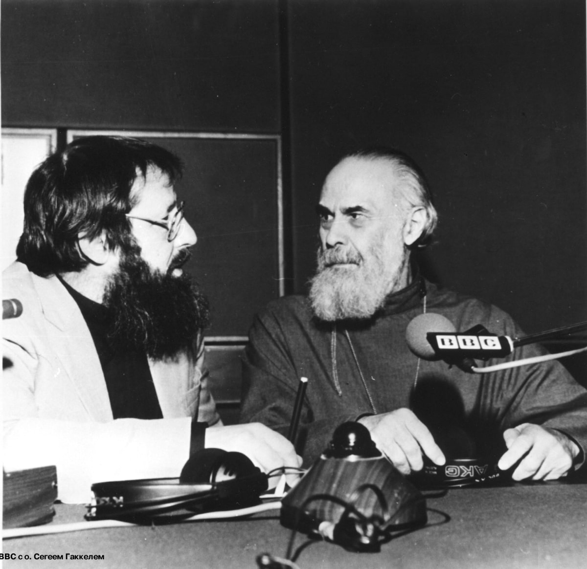 1993 BBC. With archpriest Sergey Hackel