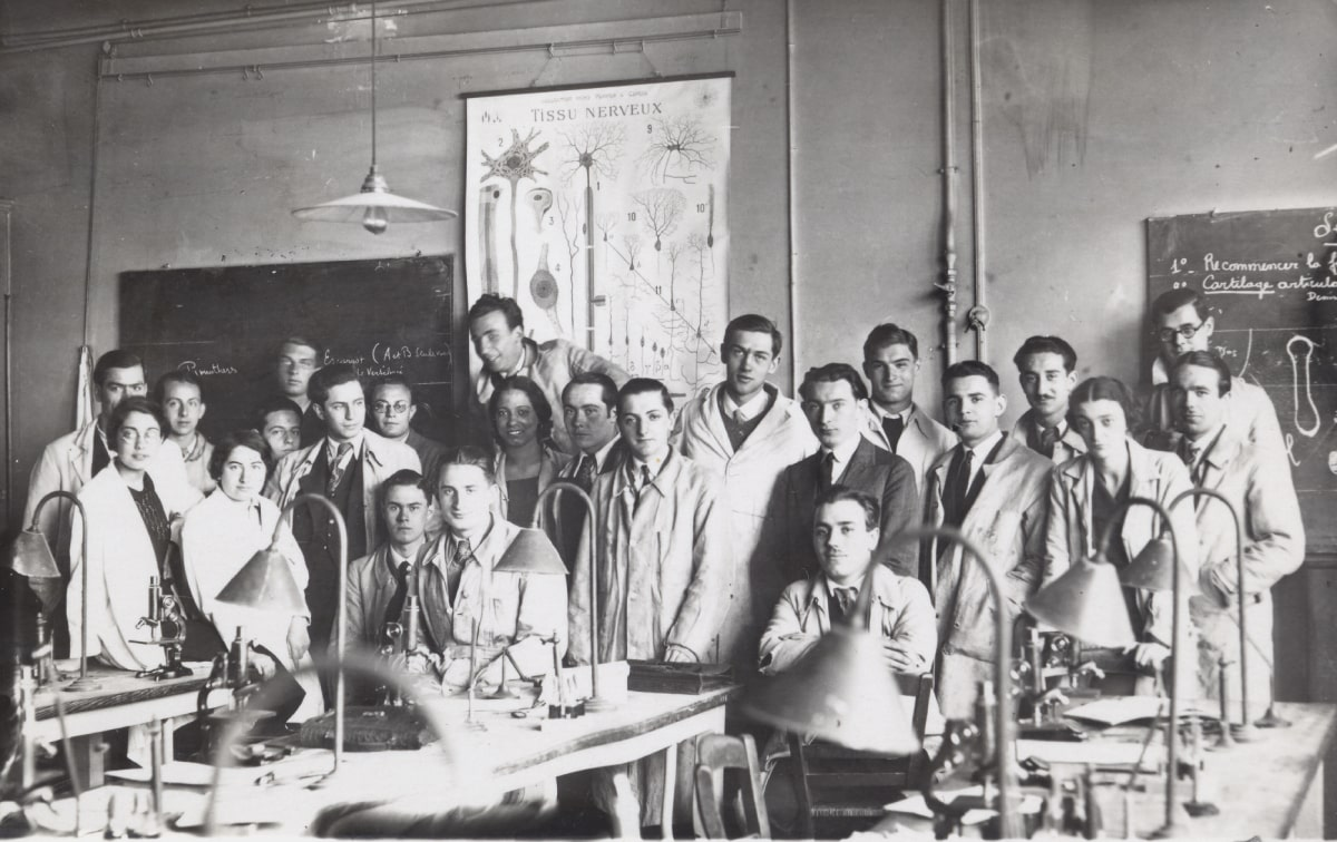 1933 A.Bloom with students. Sorbonne