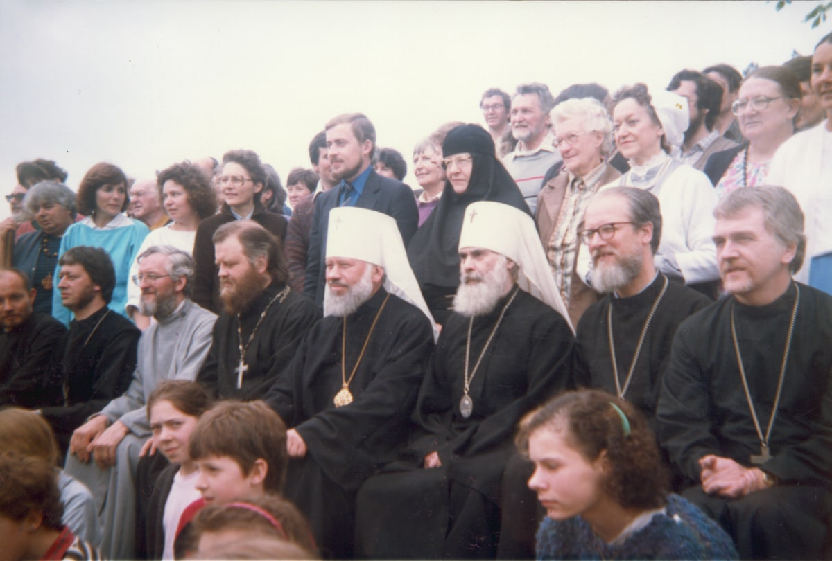 May, 1986 With Metropolitan Vladimir of Rostov, at Diocesan conference in Effingham